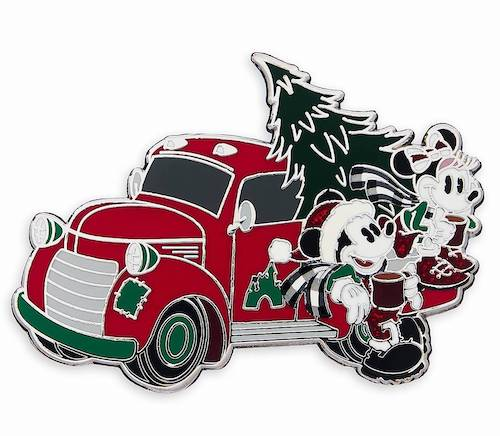 Mickey and Minnie Mouse Holiday Truck Pin