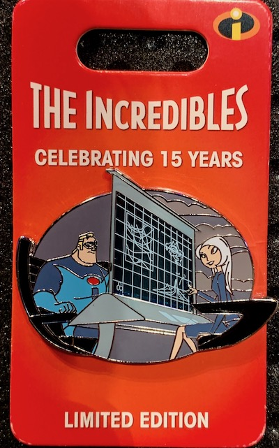 Mr. Incredible & Mirage Incredibles 15th Anniversary Pin