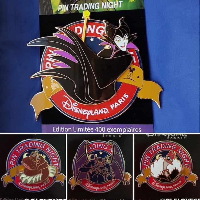October 2019 Disneyland Paris Pin Trading Night Pins