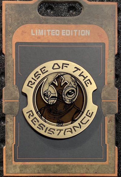 Rise of the Resistance Admiral Ackbar Star Wars Galaxy's Edge Pin