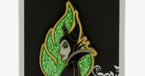 Sleeping Beauty Maleficent Glitter Hot Topic Pin