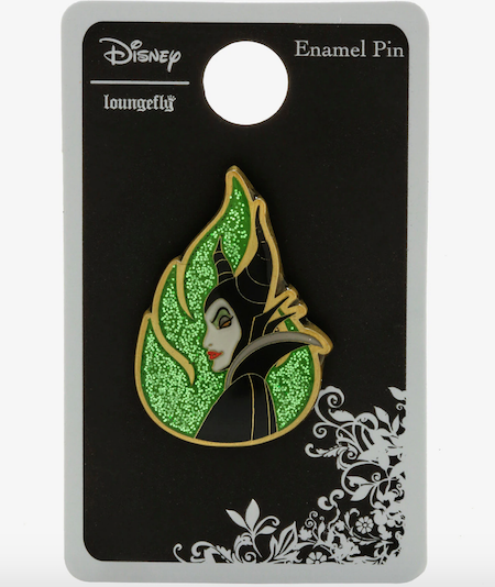 Sleeping Beauty Maleficent Glitter Hot Topic Pin