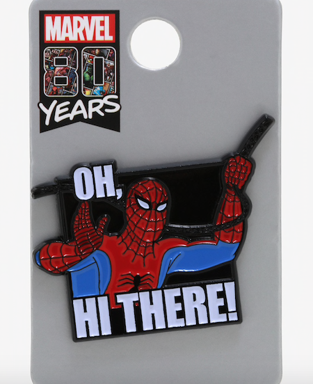 Spider-Man Hi There Hot Topic Disney Pin