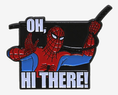 Spider-Man Hi There  Marvel Pin