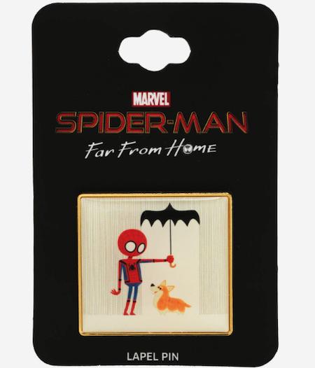 Spider-Man Rain Corgi BoxLunch Marvel Pin