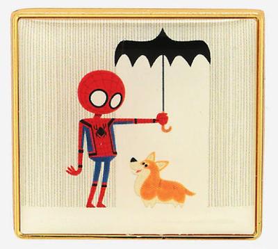 Spider-Man Rain Corgi Pin