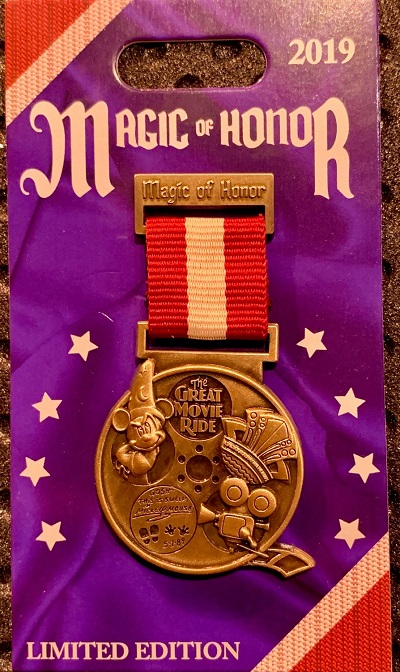 The Great Movie Ride Magic of Honor Pin