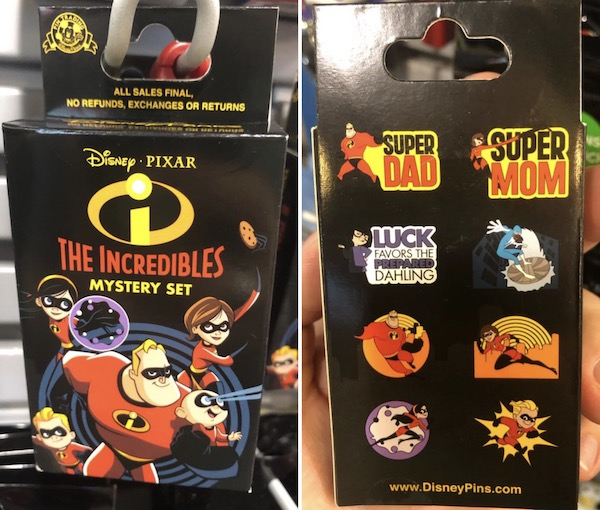 The Incredibles Mystery Pin Collection