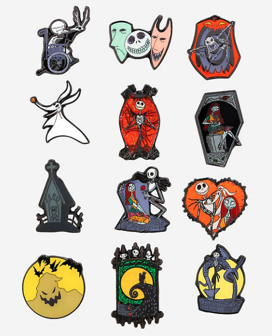 The Nightmare Before Christmas BoxLunch Mystery Pin Collection
