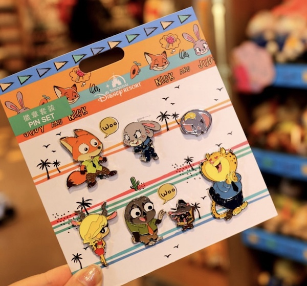 Zootopia Shanghai Disneyland Cute Pin Set