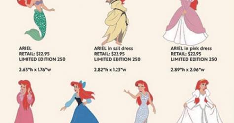 Ariel Dresses WDI Pins