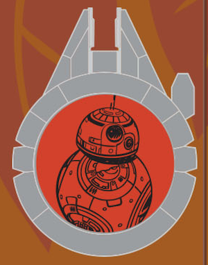 BB-8 Resistance Reveal Star Wars Galaxy's Edge Pin