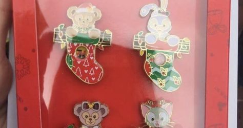 Christmas 2019 Stockings Shanghai Disney Pin Set