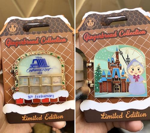 Contemporary Resort Gingerbread 2019 Disney Pin