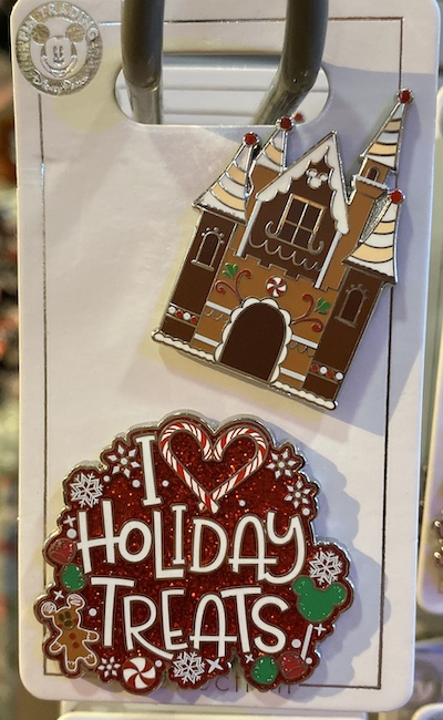 Disney Parks Holiday Treats Pin Set