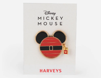 Disney Santa Mickey x Harveys Pin