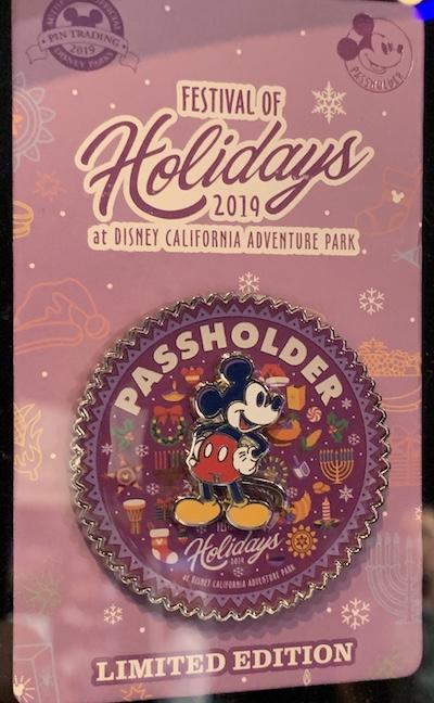 Festival of Holidays 2019 DCA Passholder Pin