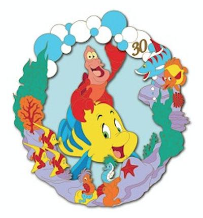 Flounder & Sebastian - Little Mermaid 30th Anniversary DSSH Pin