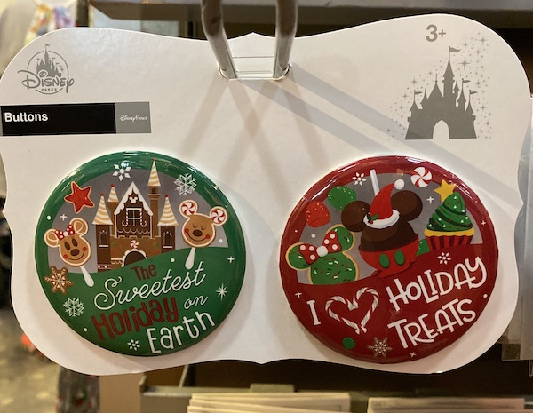 Holiday 2019 Disney Button Set