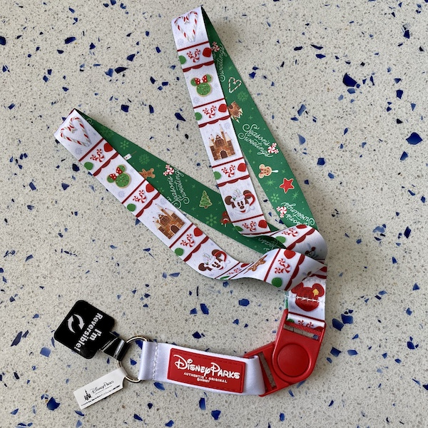Holiday 2019 Reversible Disney Lanyard