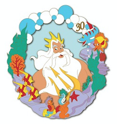 King Triton - Little Mermaid 30th Anniversary DSSH Pin