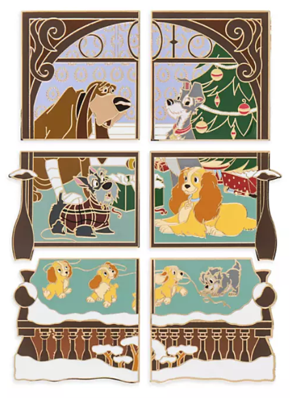 Lady and the Tramp Advent Calendar 2019 Disney Pins