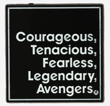 Marvel Avengers Attributes Pin