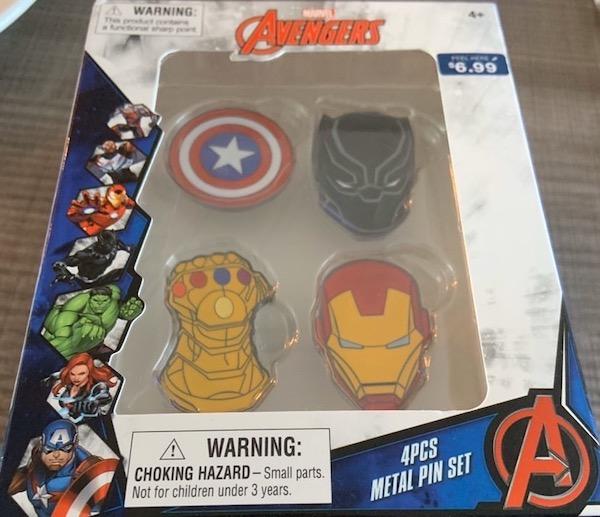 Marvel Avengers Pin Set - Walgreens