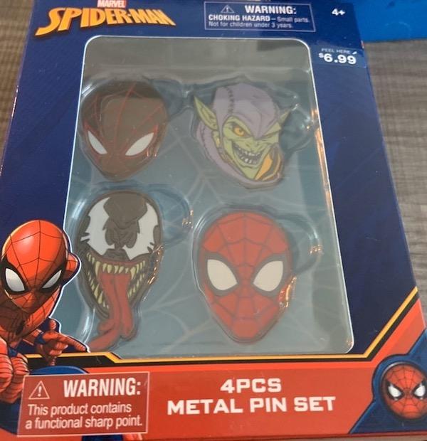 Marvel Spider-Man Pin Set - Walgreens