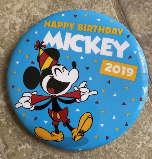 Mickey Mouse Birthday 2019 Button