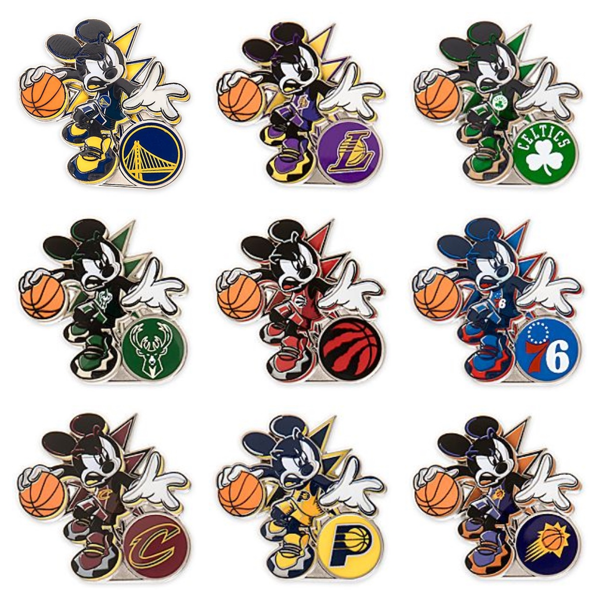 Mickey Mouse NBA Experience Disney Pin Collection