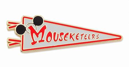 Mouseketeers Pennant Holiday 2019 Gift Pin