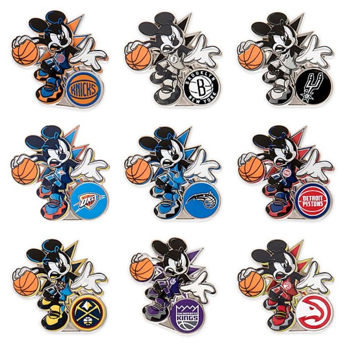 NBA Experience Disney Pin Collection