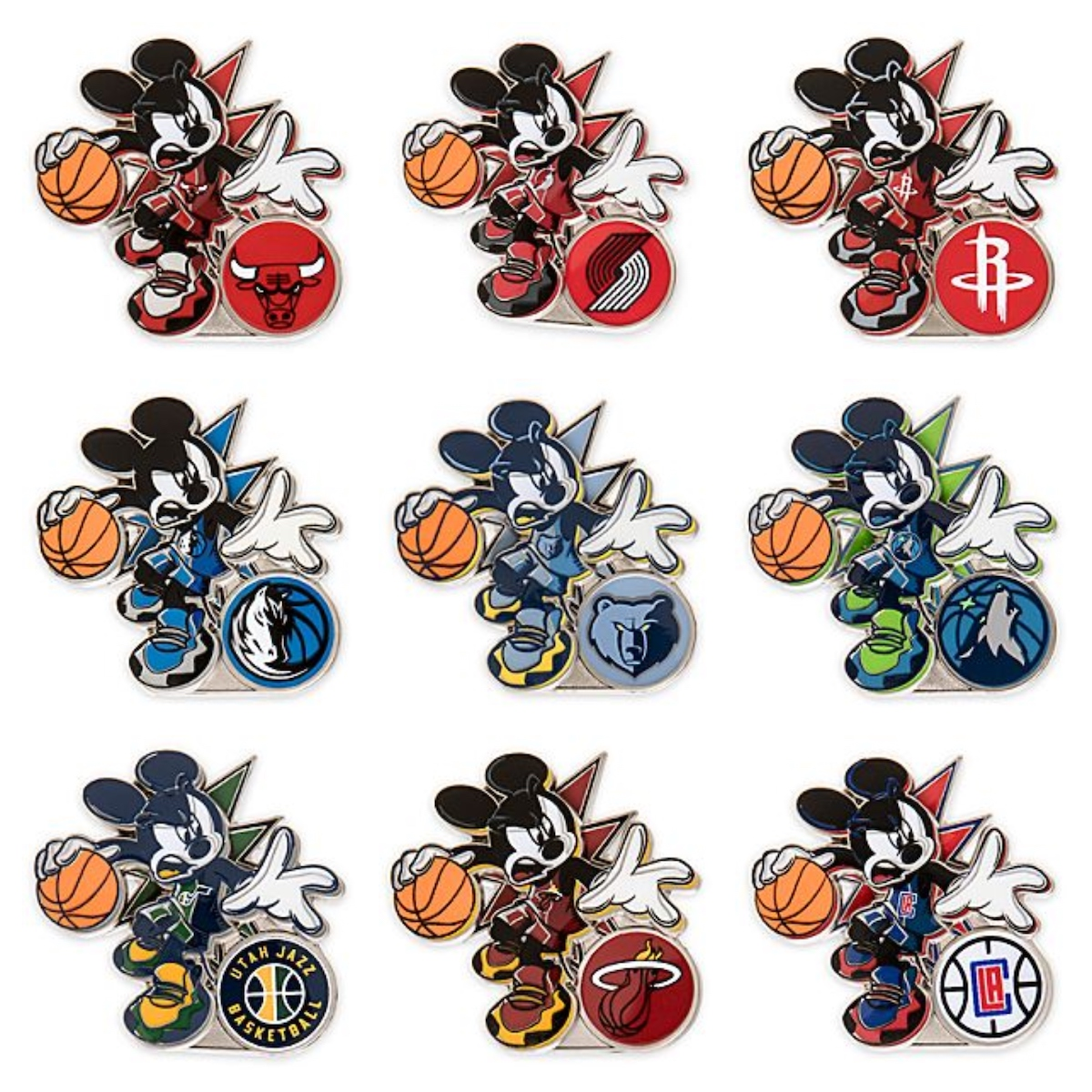 NBA Experience Mickey Mouse Disney Pin Collection