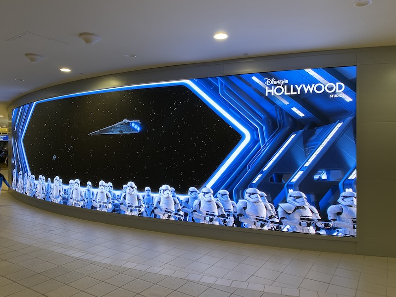 Outside Screen Magic of Disney Orlando Airport