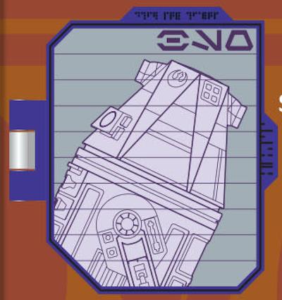 R4 Droid Schematic Star Wars Galaxy's Edge Pin