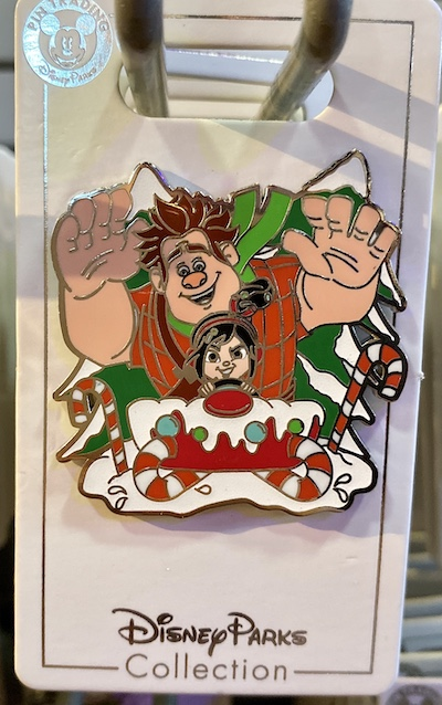 Ralph and Vanellope Holiday Pin