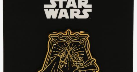Rey & Kylo Ren Battle Star Wars BoxLunch Pin