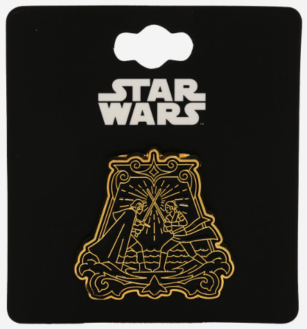 Rey & Kylo Ren Battle Star Wars BoxLunch Pin
