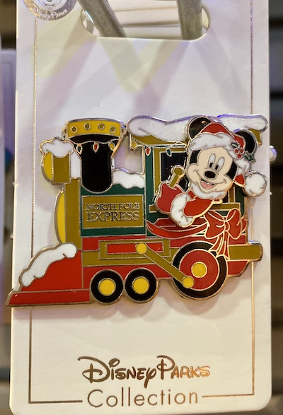 Santa Mickey Mouse Train Locomotive Pin
