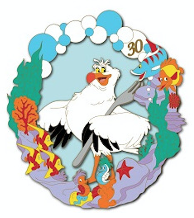 Scuttle - Little Mermaid 30th Anniversary DSSH Pin