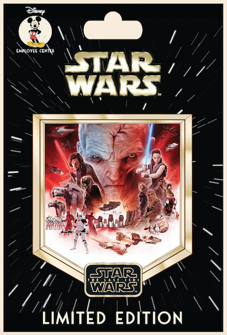 Star Wars The Saga Episode 8 Employee Center Pin
