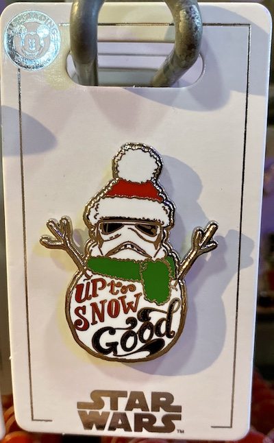 Stormtrooper Up to Snow Good Holiday 2019 Pin