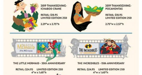 Thanksgiving 2019 and Filmstrip WDI Pin Release