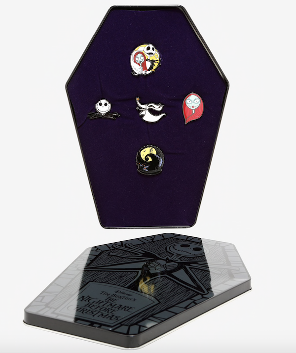 The Nightmare Before Christmas Coffin Hot Topic Pin Set