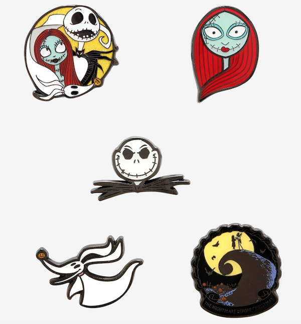 The Nightmare Before Christmas Coffin Hot Topic Pins