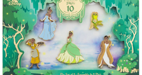 The Princess and the Frog 10th Anniversary shopDisney Pin Set