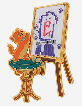 Toulouse Paint Lenticular BoxLunch Disney Pin