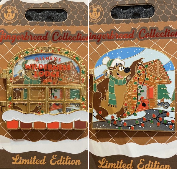 Wilderness Lodge Resort Gingerbread 2019 Disney Pin