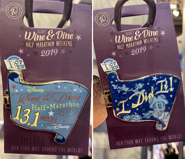 Wine & Dine Half Marathon 2019 Pin